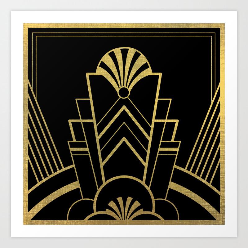 Art Deco Design , Great Gatsby Art Print