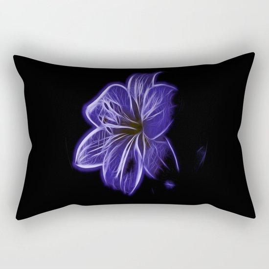 A luminescent flower Rectangular Pillow