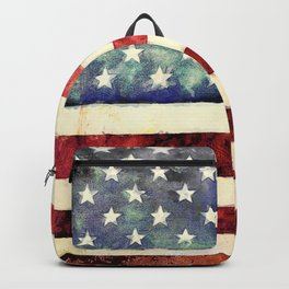 Vintage American Flag Backpack