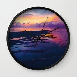 Maldivian sunset 5 Wall Clock