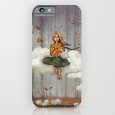 The little  girl sits on a cloud  in   autumn forest iPhone 6s Slim Case