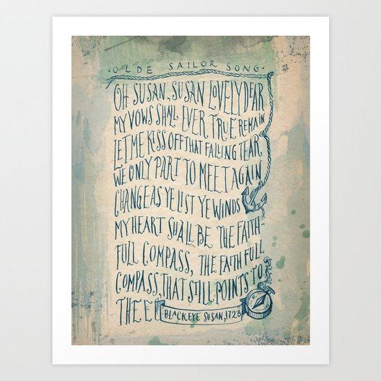 Old Sailor Song No.1 Art Print