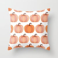 Patterned Pumpkin Throw Pillow