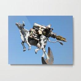 Flying cow Metal Print
