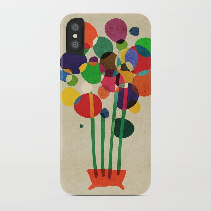 Happy flowers in the vase iPhone Case