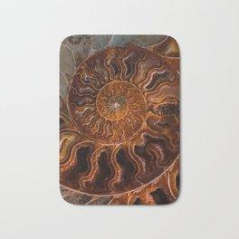 Earth treasures - brown and orange fossil Bath Mat