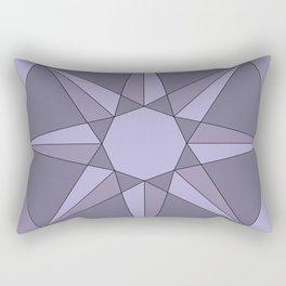 Purple Sun - Geometric Mandala Rectangular Pillow
