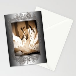Oriental Lily named Muskadet Stationery Cards