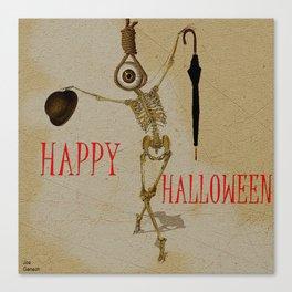 Happy Halloween by Monsieur Bone Canvas Print