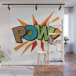 Comic Book Pop Art Sans POW! Wall Mural