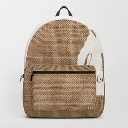 New Hampshire is Home - White on Burlap Backpack