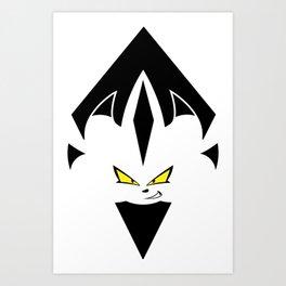 Chaos Nazo Emblem (Transparent) Art Print