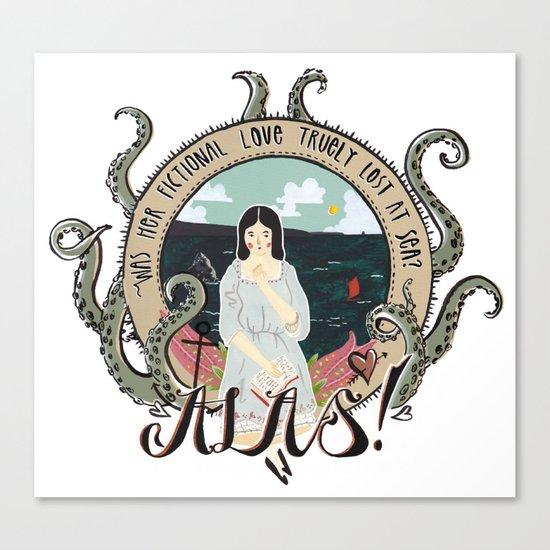 Fictional love Canvas Print