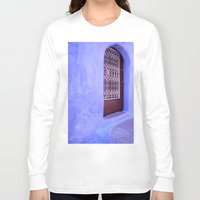 greek Long Sleeve T-shirts featuring Greek Blues by Steve P Outram