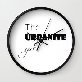 The urbanite girl Wall Clock