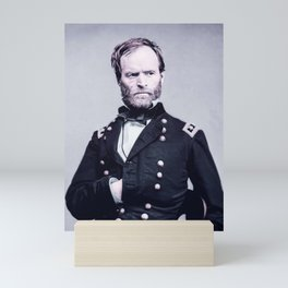 Gen. William T. Sherman - Civil War Infrared art by Ahmet Asar Mini Art Print