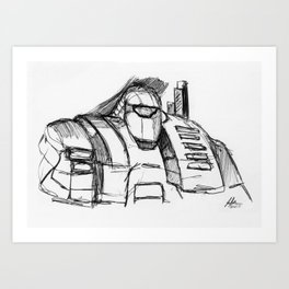 Warbot Sketch #053 Art Print