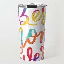 pride themed best mom  Travel Mug