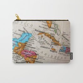 Map Art Carry-All Pouch