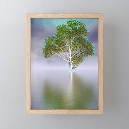 fancy tree and strange light -1- Framed Mini Art Print