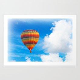 Colorful hot air balloon Art Print