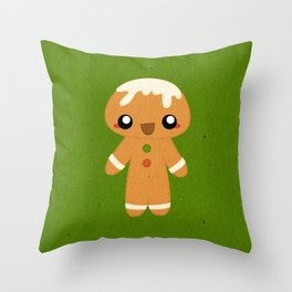 Christmas Card - Gingerbread Kid Throw Pillow