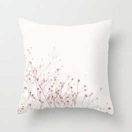 Pink Wild Flowers Throw Pillow