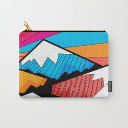 Winter rainbow mountains Carry-All Pouch
