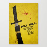kill bill Canvas Prints featuring Kill Bill by rkbr