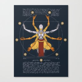 Vitruvian Omnic - color version Canvas Print