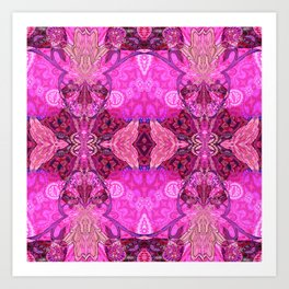 Royal Bojee Boho Magenta Queen Art Print