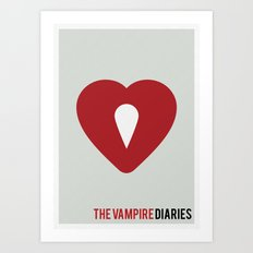 The Vampire Diaries - Minimalist Art Print