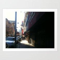 Chinatown stroll 1  Art Print