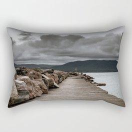 Long Solid Wharf Rectangular Pillow