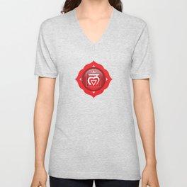 Root Chakra Symbol Unisex V-Neck