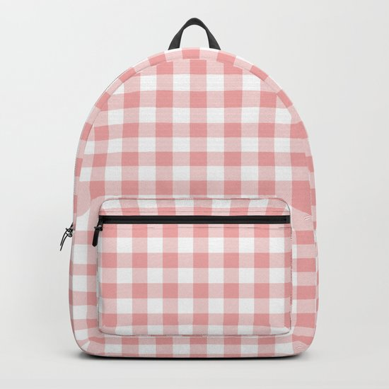 Lush Blush Pink and White Gingham Check by honorandobey