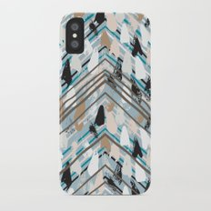 Chevron print with colorful stripes and lines iPhone X Slim Case
