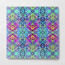 Fractal Art Stained Glass G304 Metal Print