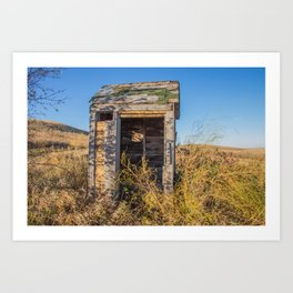 Outhouse, Hurd Round House, ND 2 Art Print