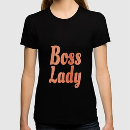 Boss Lady in Cursive Red Rock T-shirt
