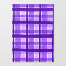 Tissue Paper Plaid - Purple Canvas Print