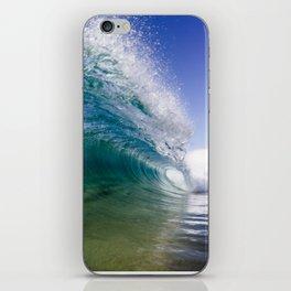 Cyan Cylinder iPhone Skin