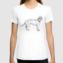 Labradoodle/Goldendoodle Ink Drawing T-shirt