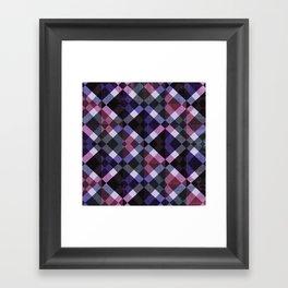 Retro Box Pattern Small Framed Art Print