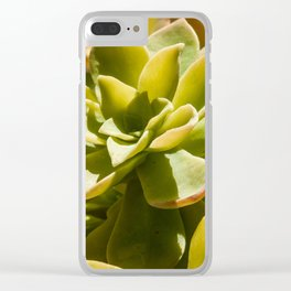 Fat Plant Flowers Clear iPhone Case