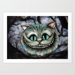 Chesire cat Art Print