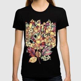Jeweled Floral Design T-shirt