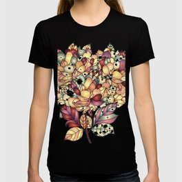 Jeweled Floral Design T-shirt