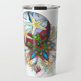 Marine Bubble Mandala Travel Mug