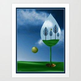 Magritte Mulligan Art Print